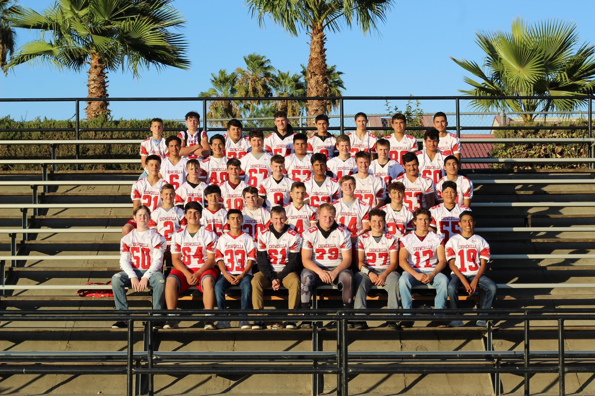 Junior Varsity football team posing