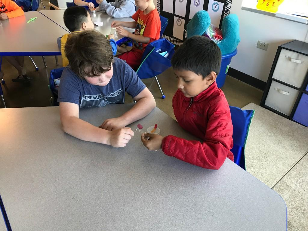 elementary working on project