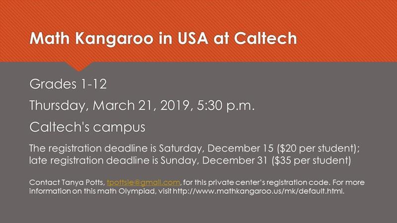 Math Kangaroo USA Open for Registration Featured Photo