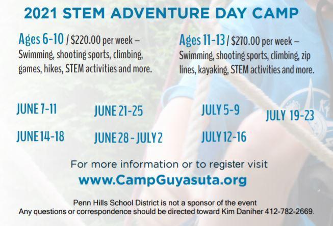 Camp Dates