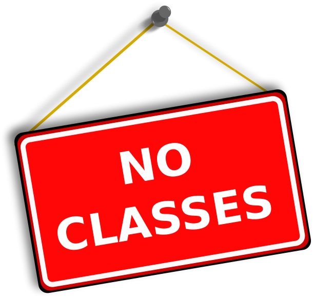 No Classes sign