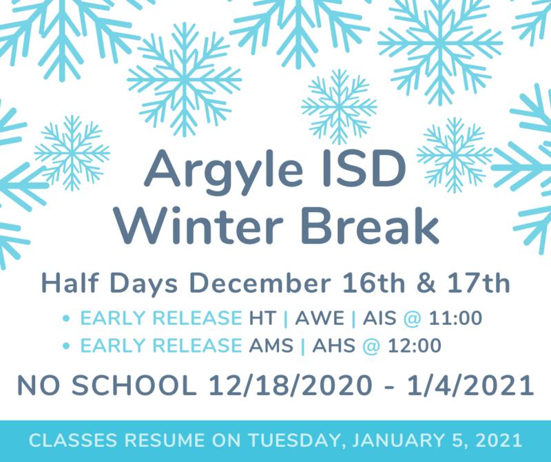 Argyle ISD BREAK