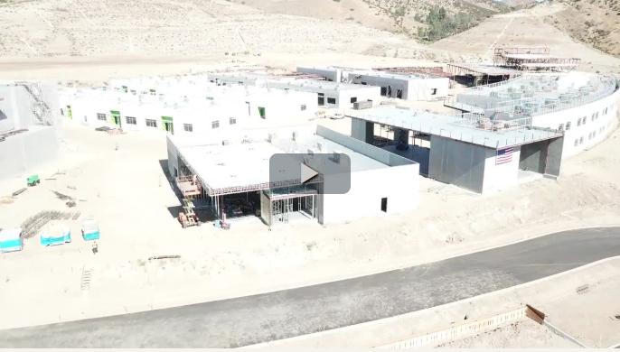 Drone Footage of Castaic High School Building Progress, June 2018 Video