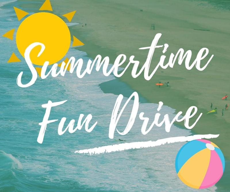 Summertime fun drive beach