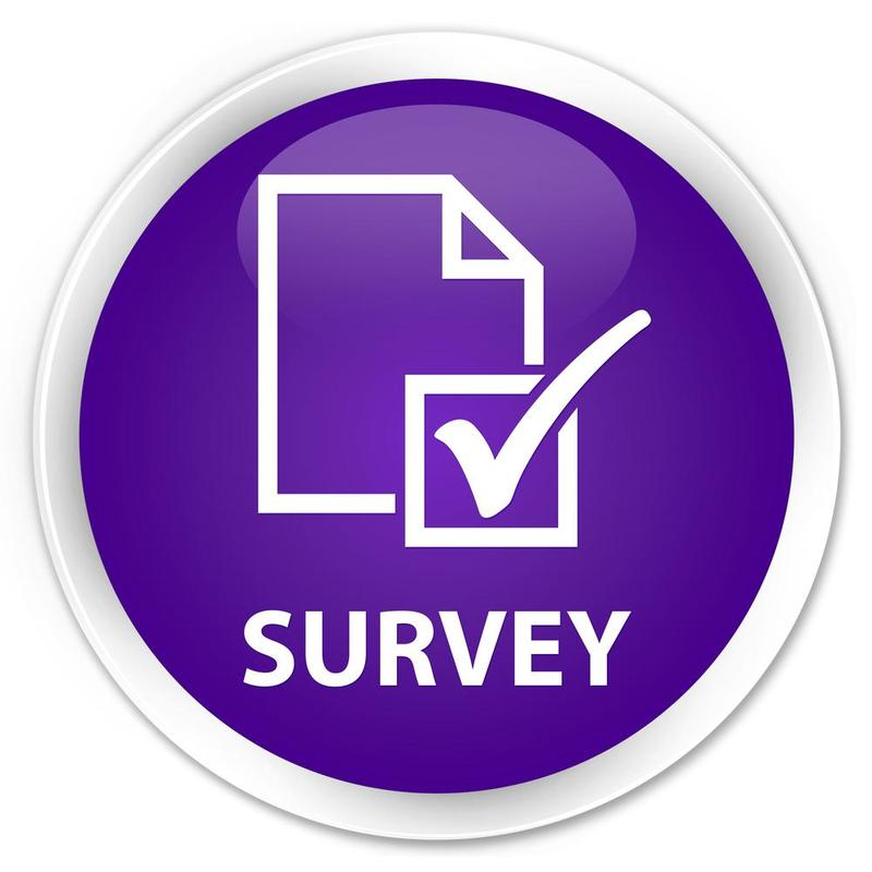 Graphic icon of a survey with a checkbox.