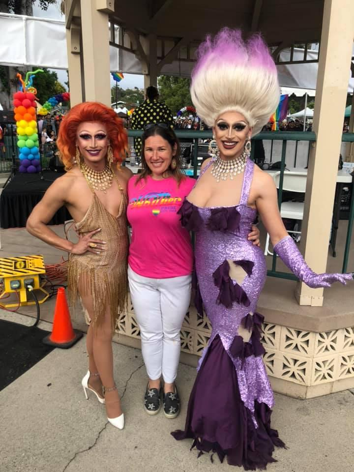Sayaka with Drag Queens