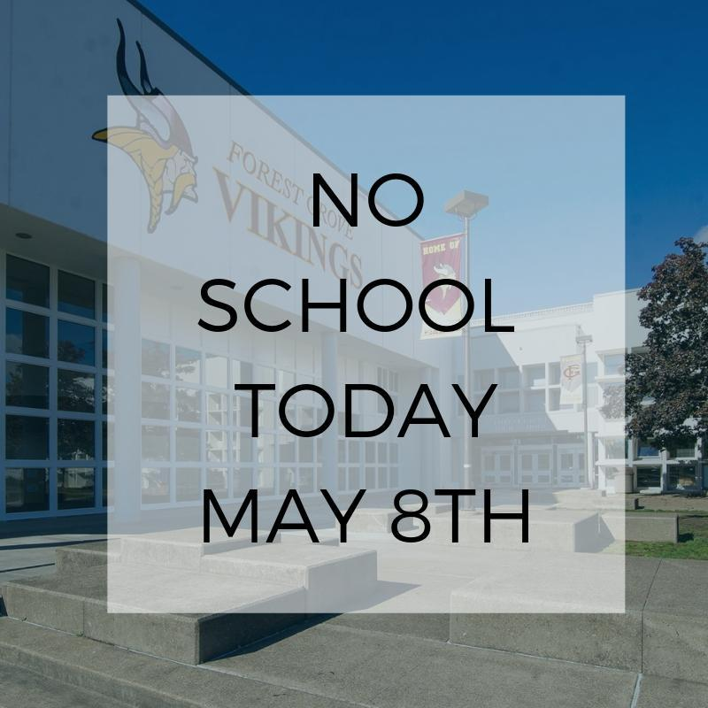 No School Today May 8th
