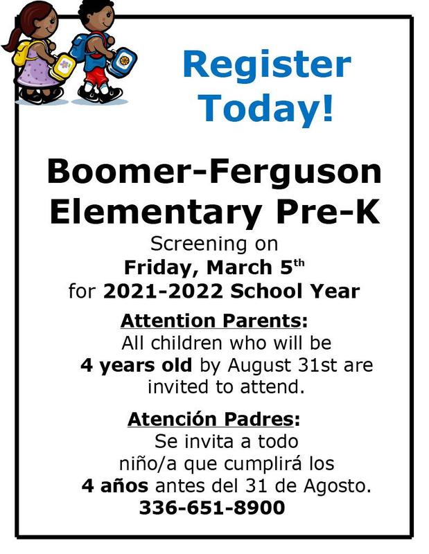 pre-k flyer with information on the date and the location