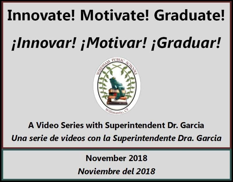 View Superintendent of Schools Dr. Garcia's inaugural monthly video series: Innovate! Motivate! Graduate! Thumbnail Image