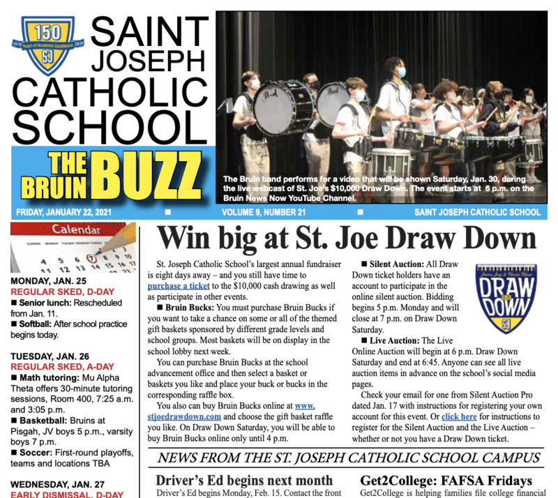 THE BRUIN BUZZ, FRIDAY, JAN. 22 Featured Photo
