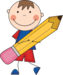 Cartoon Child with a Pencil