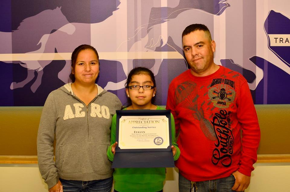 Evelyn October Student of the month