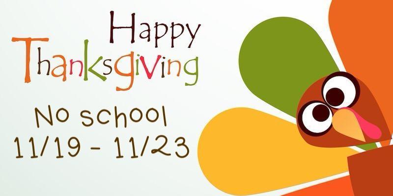 happy thanksgiving no school dates