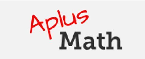 """All text logo """"A-plus math"""""""
