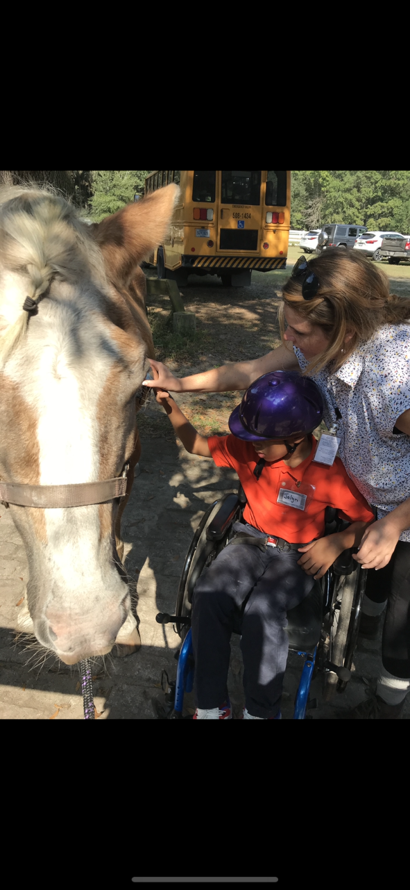 OT at horseback riding