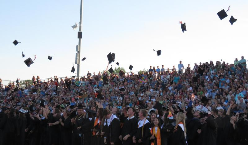 The TKHS Class of 2018 celebrates their graduation.