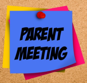 Parent Meeting Sticky Note clip art