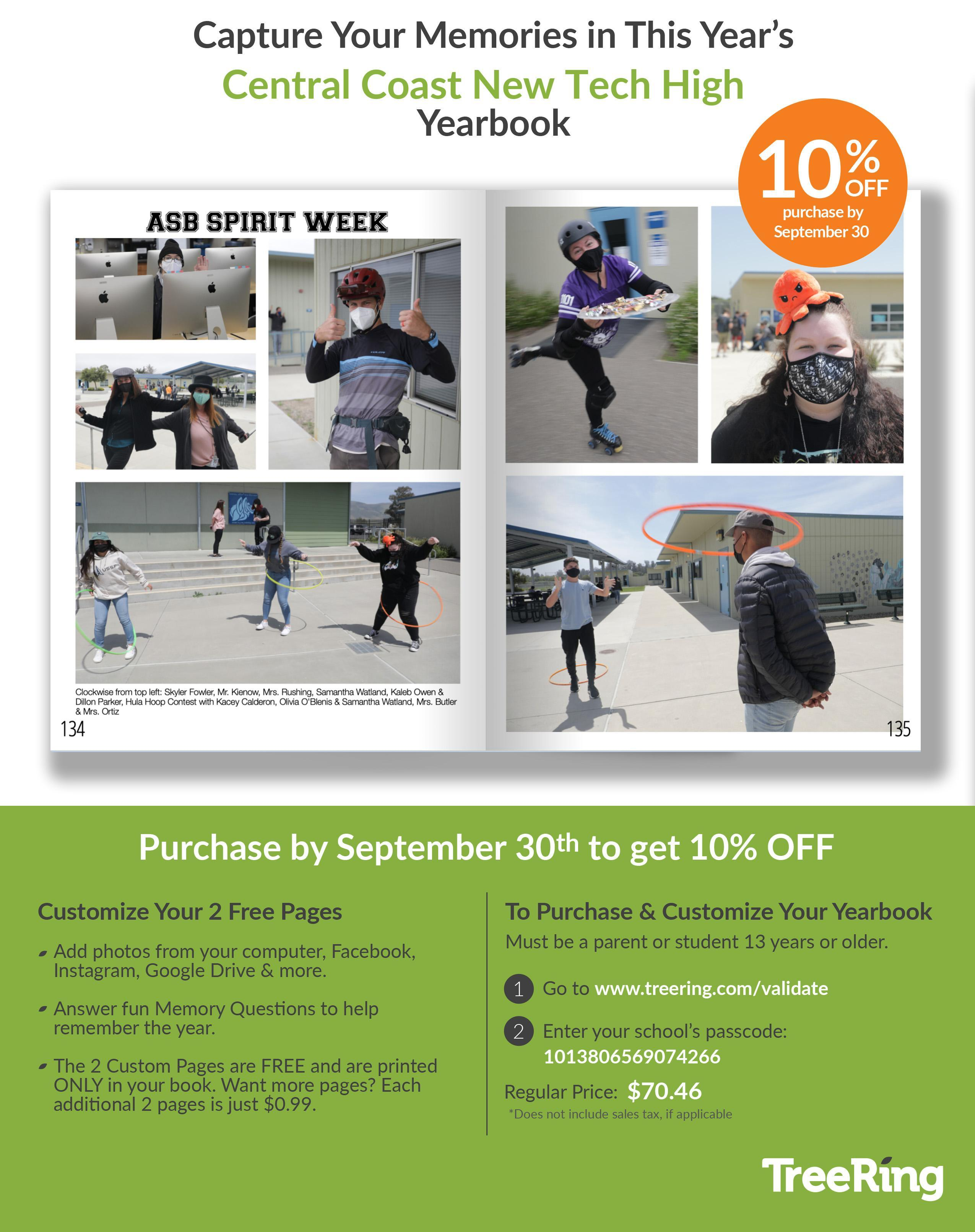 Get 10% off if you order by Sept. 30