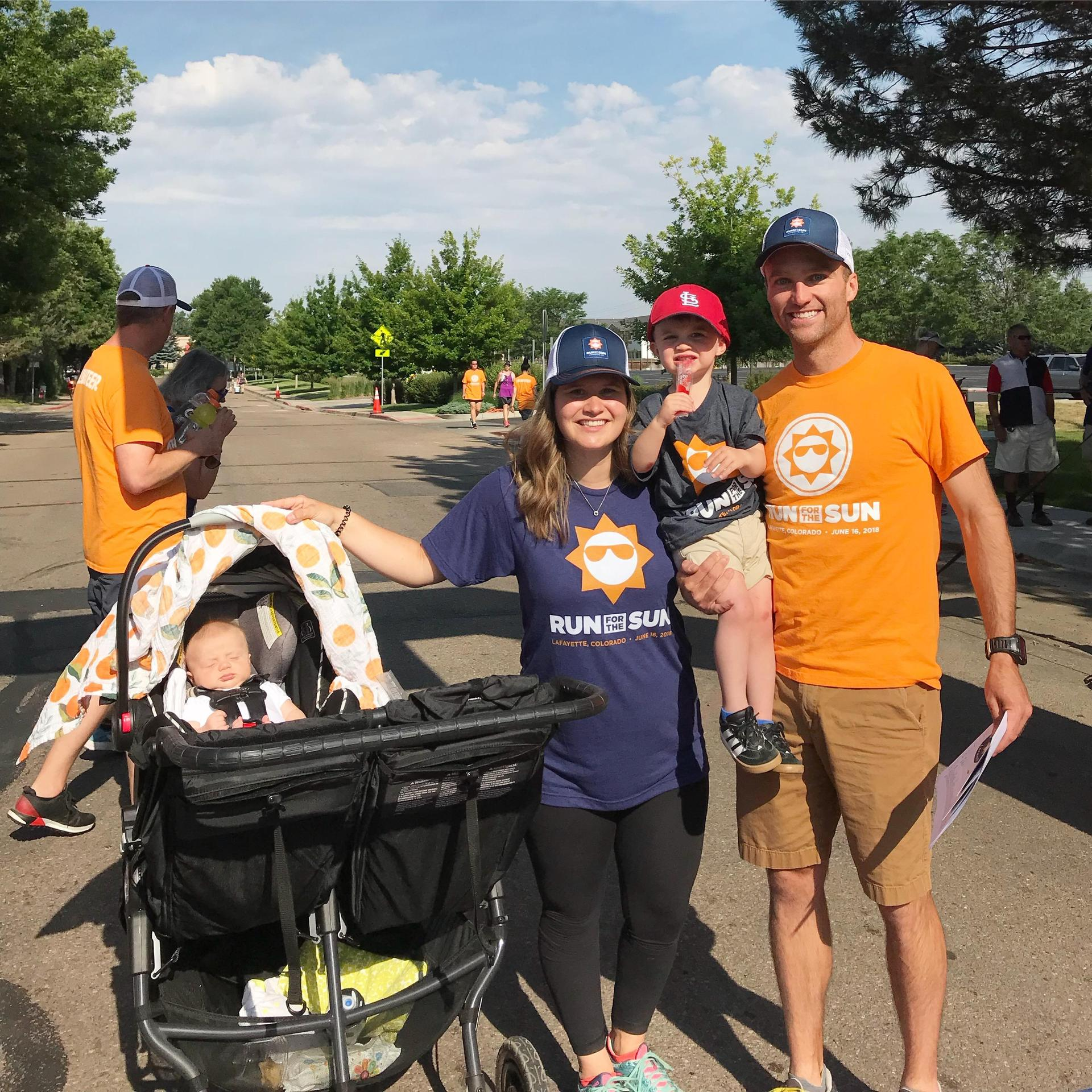 Run For The Sun 5K - My husband was the race director and we were so proud!