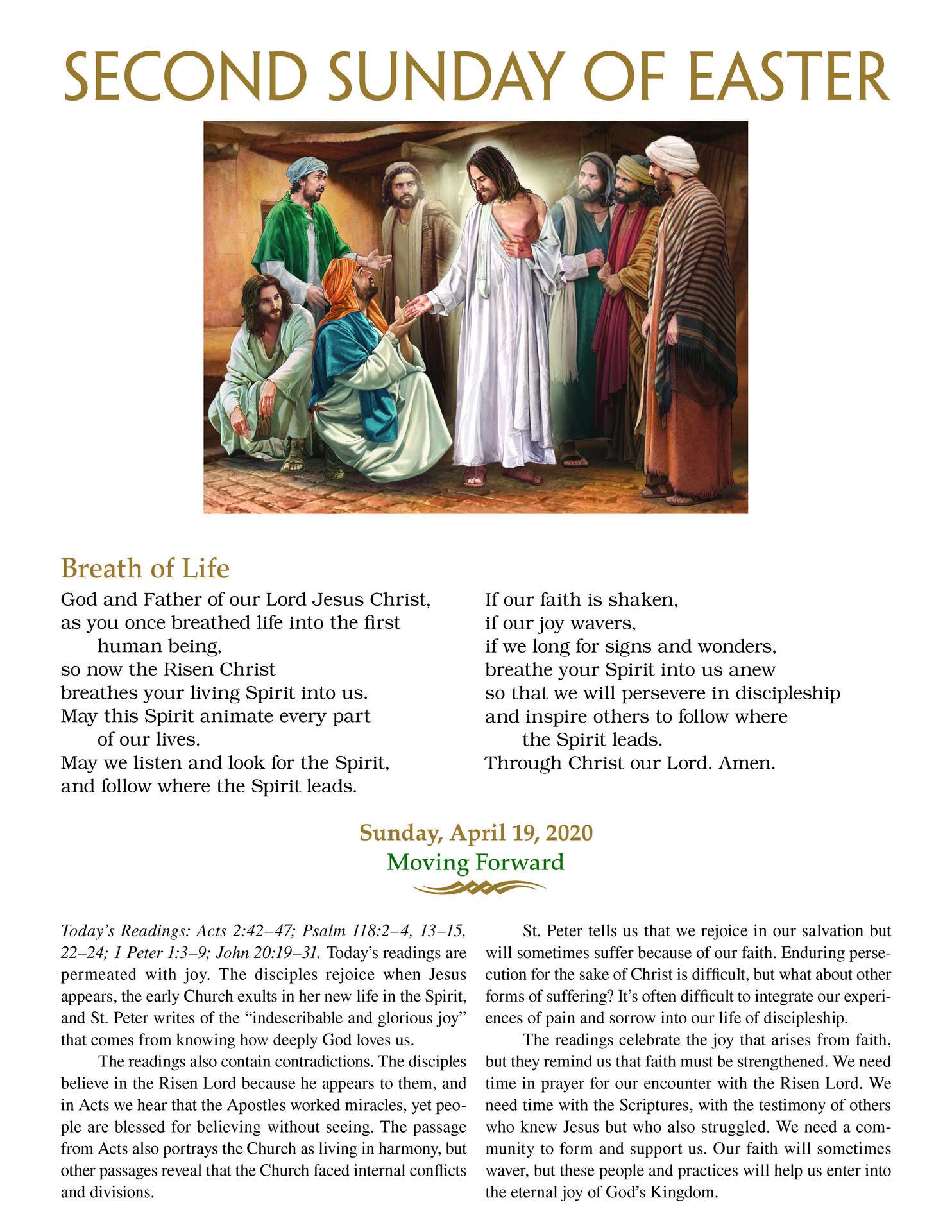 April 19-DivineMercySunday