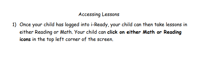 Accessing Lessons