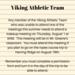 Viking Athletic Team Announcement