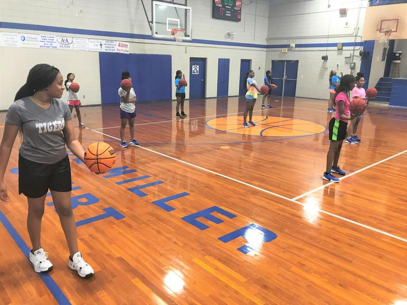 Southeast Middle School Girls Basketball Practice Photo
