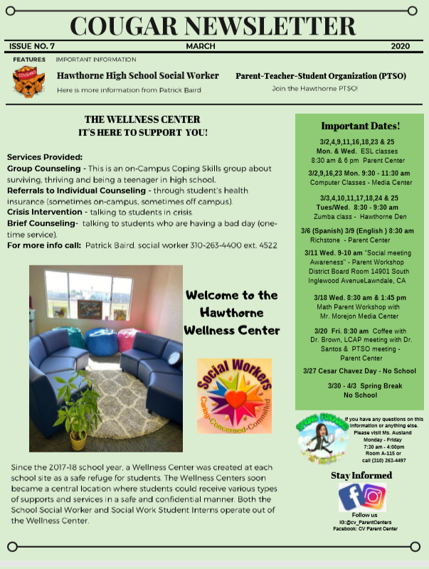 March Newsletter Eng
