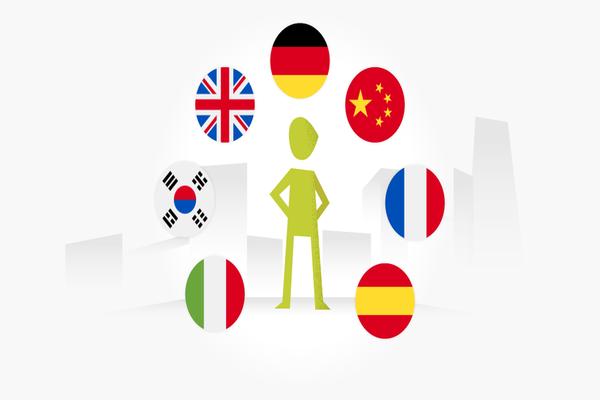 Multi-Language learner symbol')