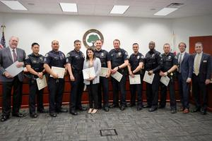 Anaheim Police Department Officers and 7-11 Cashier
