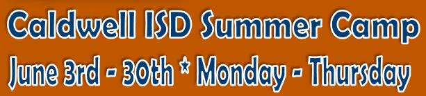 CISD Summer Camp Header