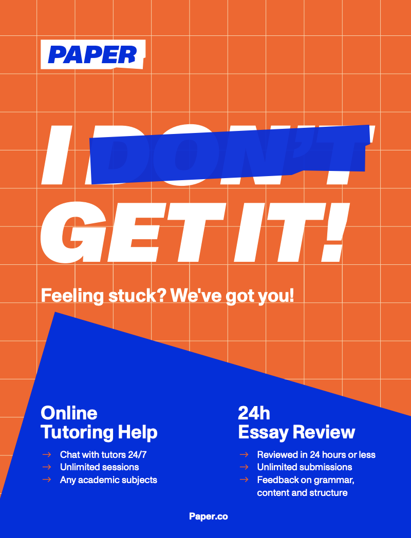 Paper Tutoring Flyer Graphic: Online Tutoring Help