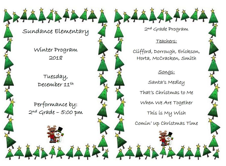 2nd Grade Winter Program
