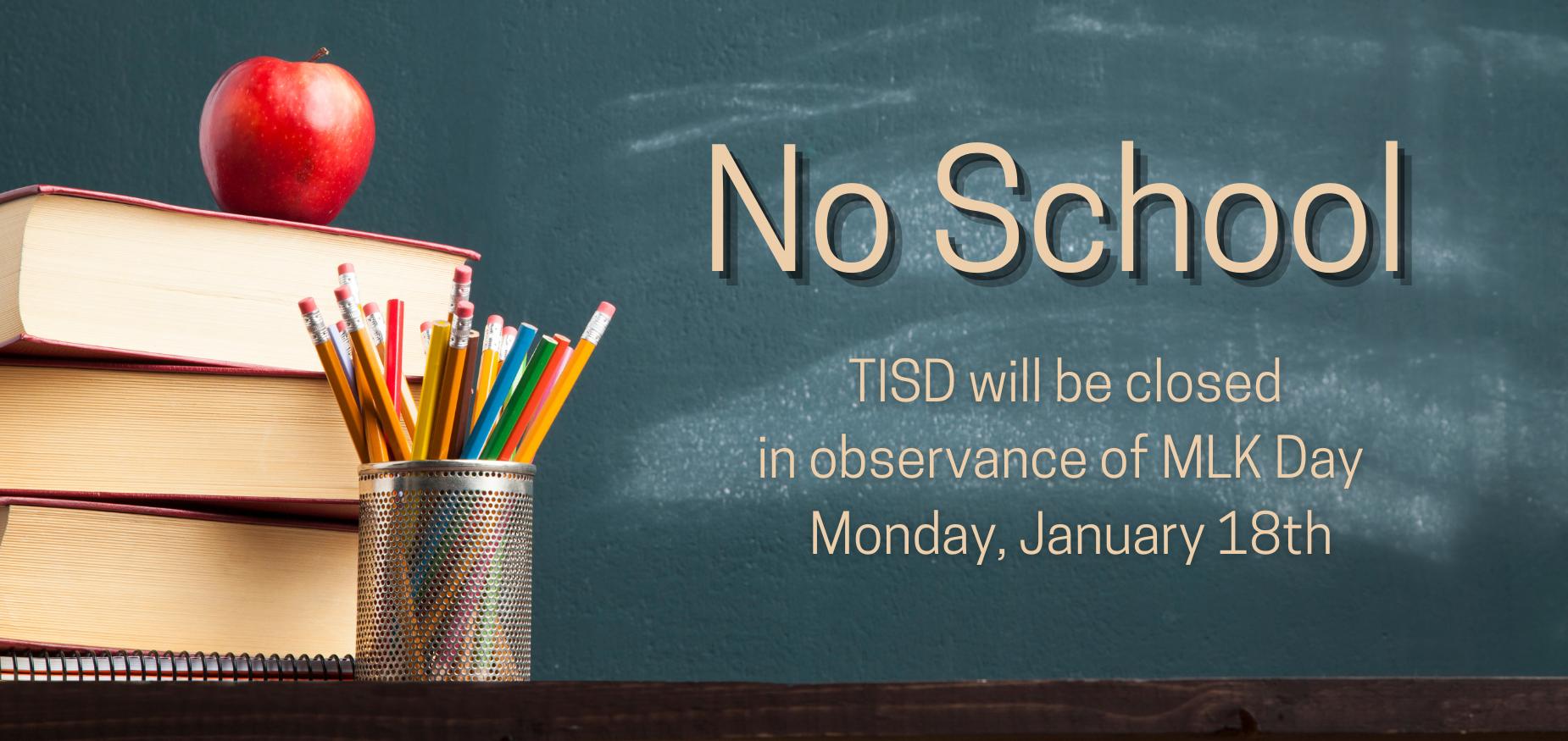 No School January 18th