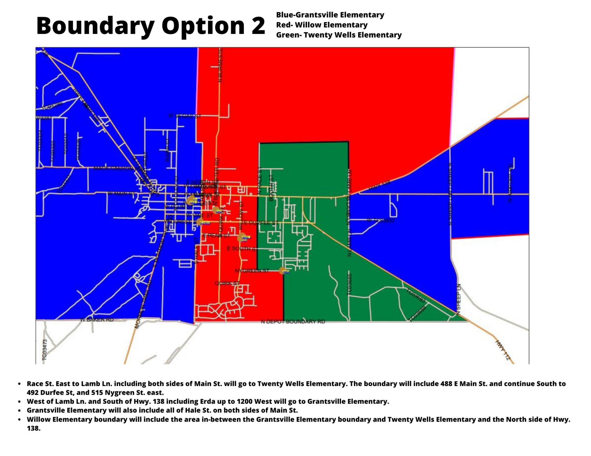 Map of boundary option 2