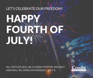 Happy Fourth-Offices Closed