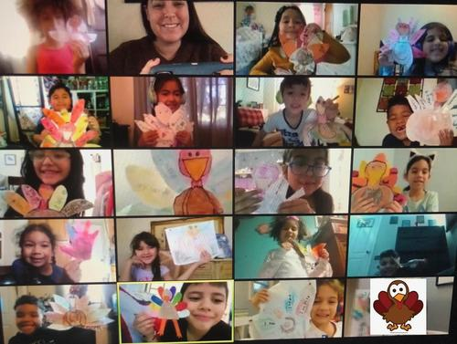 Mrs. Saroli's class celebrated Thanksgiving by creating their own turkeys and writing about things that they are thankful for. All students shared and presented their work.