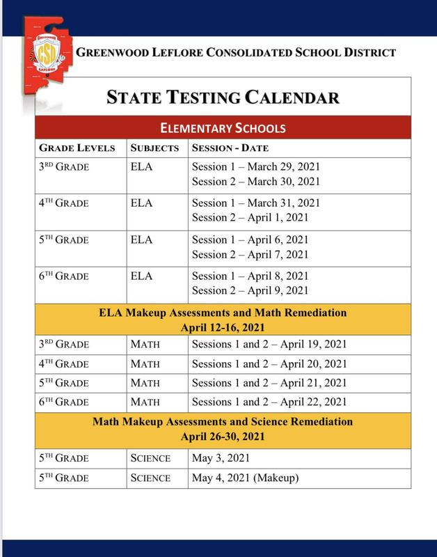 DISTRICT RELEASES STATE TESTING DATES Featured Photo