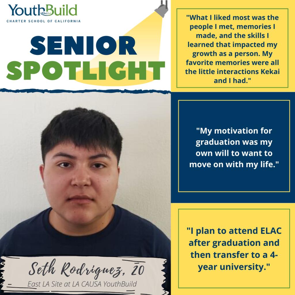 Senior Spotlight for graduate Seth Rodriguez