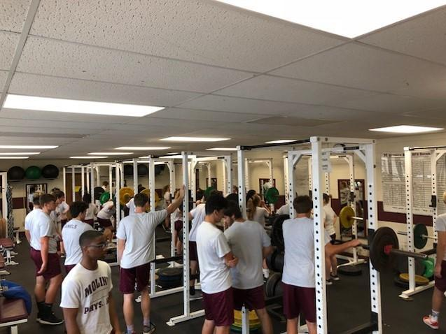 Existing weight room