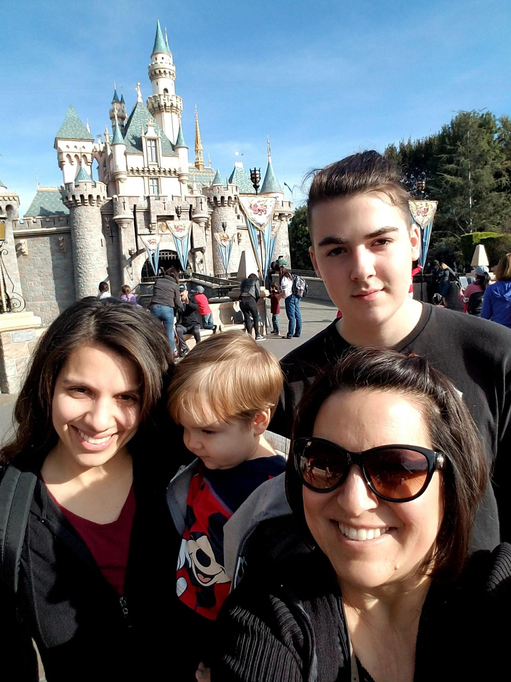 Disneyland with family