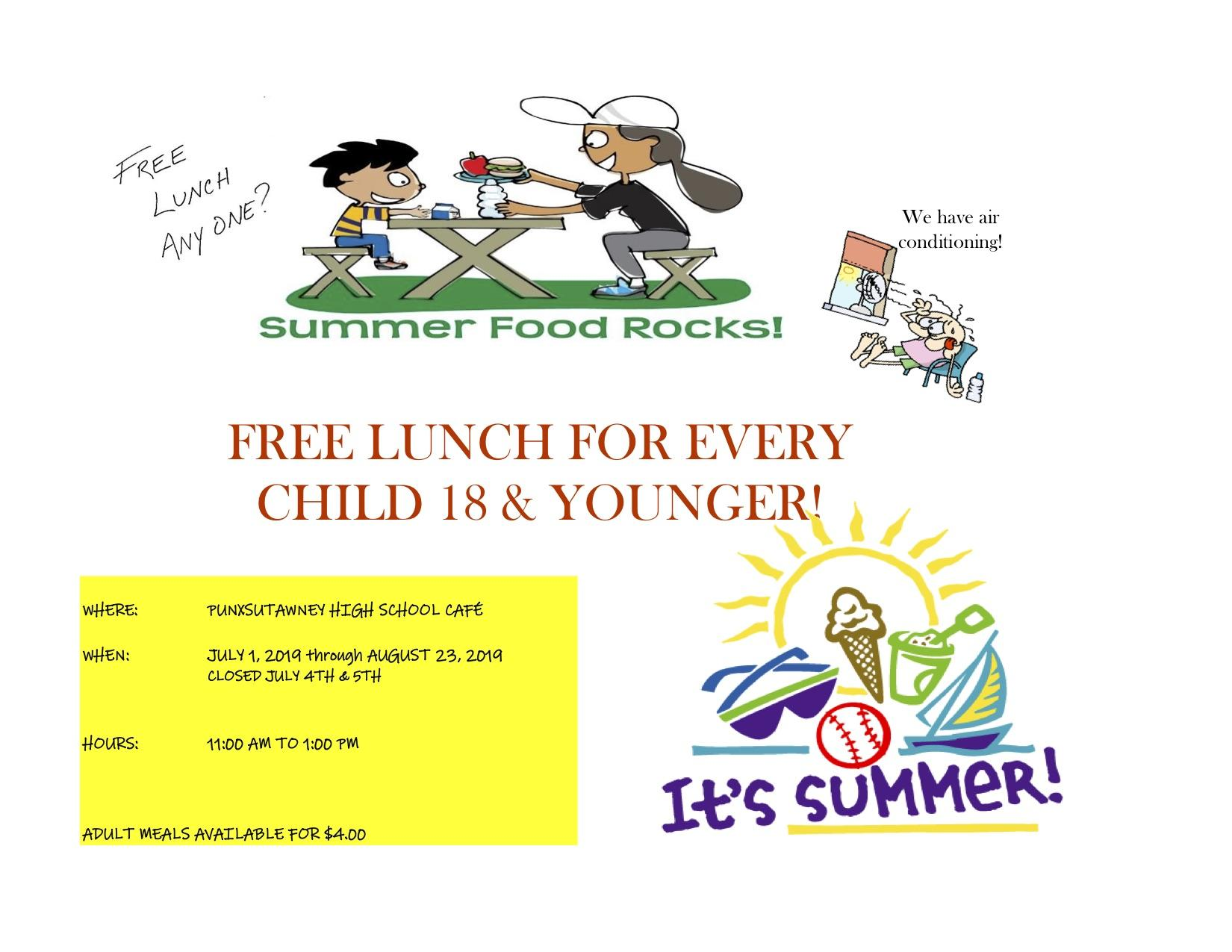 Summer Food Service Poster