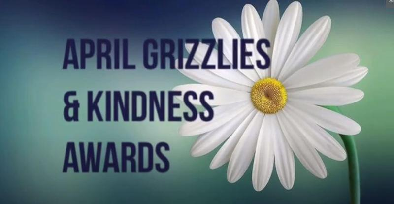 Greenwood April Grizzly of the Month and Kindness Awards Featured Photo