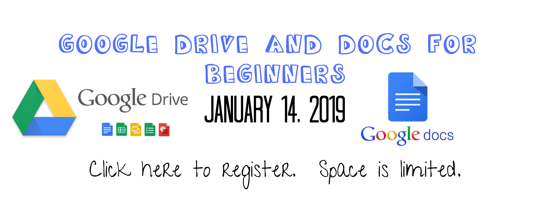 Google training January 14 click to register http://www.slp.k12.la.us/apps/form/form.STLAND-D.rcuqpNU.EL
