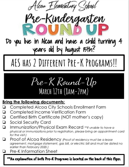 Pre K Round Up Flyer