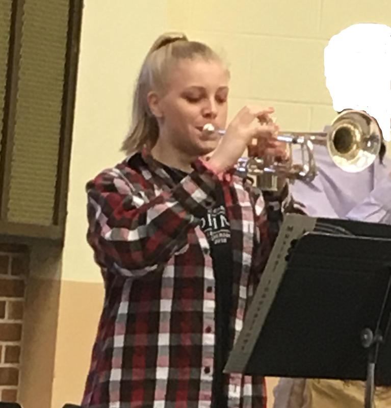 Margaret Jean Harris plays with the 2019 SC All-State Jazz Band Featured Photo