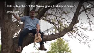 aaron parrish teacher of the week