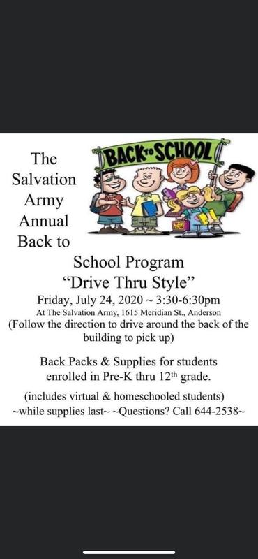 Backpack back to school info