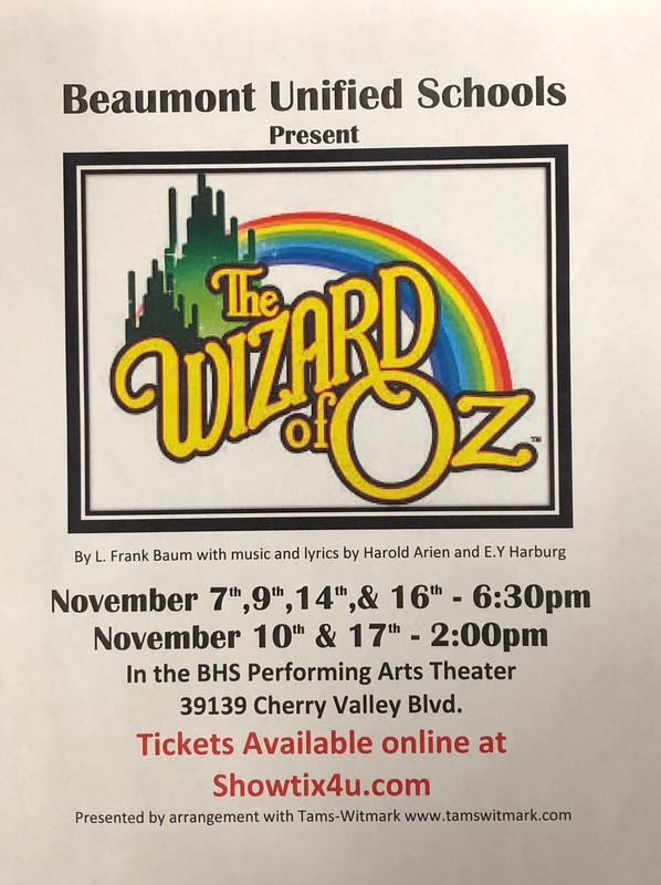 Wizard of Oz themed flyer