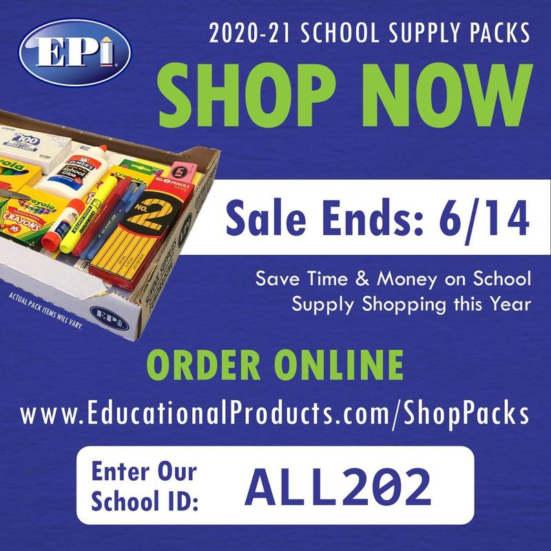 2020-2021 Supply Pack Ordering Now Available for Grades 2-8 Thumbnail Image